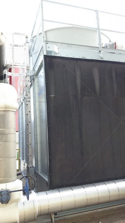 New Marley packaged steel CrossFlow Cooling Tower partial view