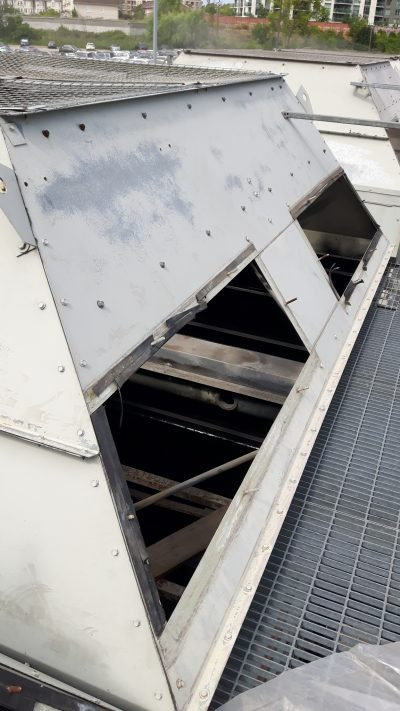 steel cooling tower top exterior