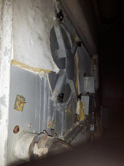leaking access door