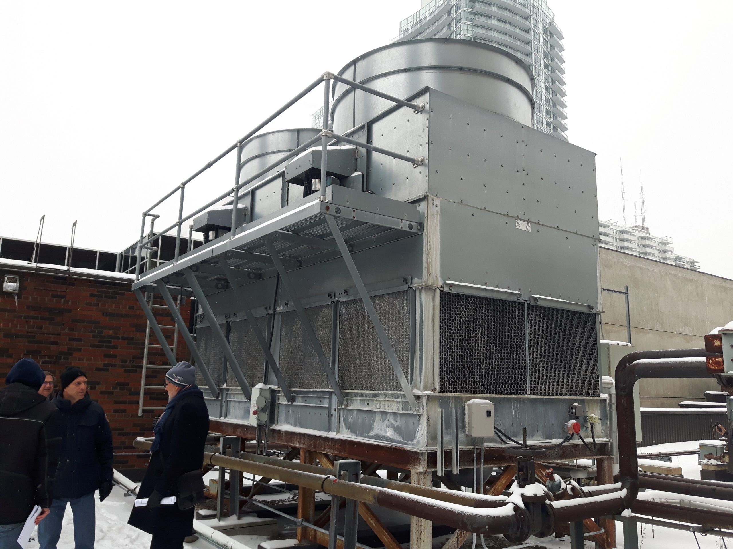 packaged steel induced draft cooling tower