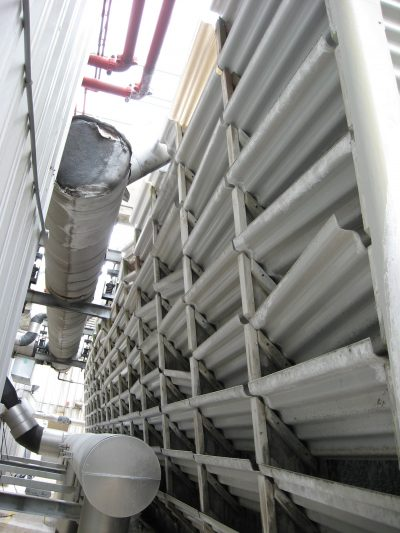 Crossflow Tower broken louvers to be replaced