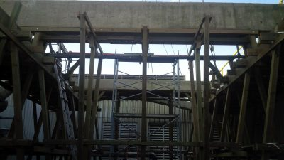 Crossflow Tower Interior Rebuild with framing up
